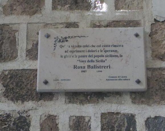 Targa commemorativa di Rosa Balistreri