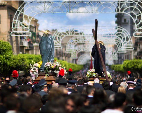 Foto della processione del venerdì santo a Licata