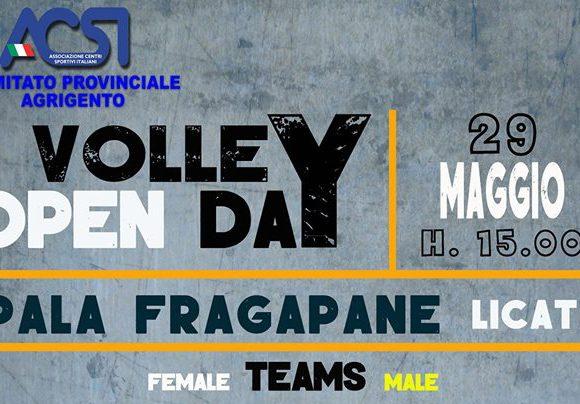 Locandina dell'evento Open Day Volley organizzato dall'associazione Limpiados Volley di Licata