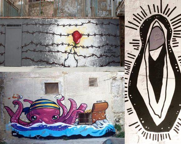 Foto dei murales realizzati alla Marina a Licata