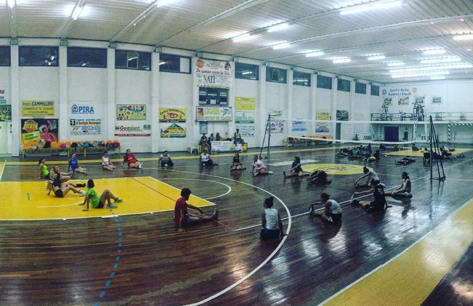 Foto degli allenamenti della Limpiados Volley